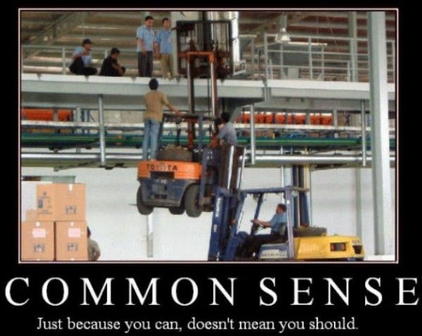 Common Sense demotivator